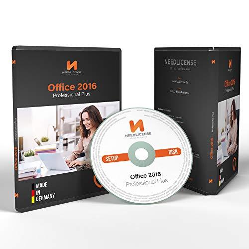 Office 2016 Professional Plus - ISO DVD mit Lizenz und inkl. aller aktuellen Updates, auditsichere Lizenz von Needlicense