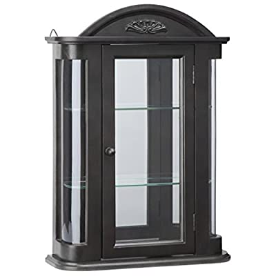 Glass Curio Cabinets - Rosedale - Wall Mounted Curio Cabinet