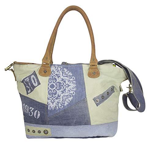 Sunsa Damen Handtasche Canvas big bag große Schultertasche Reisetasche bags for women Ladies handbags lässig Vintage Weekender praktische Geschenke für Sie jeans