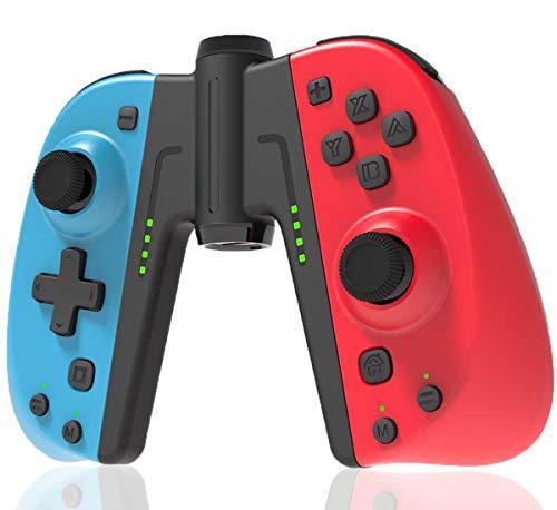 Mando para Switch, Maegoo Bluetooth Inalámbrico Switch Mandos Joypad Gamepad Joystick con Función Turbo, Sensor 6 Gyro Axis, Vibración de Motor Dual Compatible para Switch
