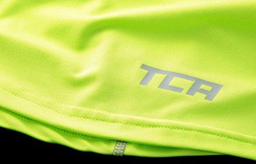 TCA Superthermal Quickdry Damen Laufshirt/Funktionsshirt mit Rundhalsausschnitt – Limettengrün, M - 3