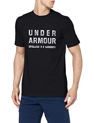 Under Armour Ua Classic Script SS Camiseta de manga corta, Hombre, Negro, L