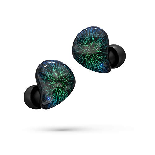 Asimom True Wireless Earbuds, Bluetooth V5.0, TWS Bluetooth Earphones Auto-Pair Wireless Headphones with High Definition Mic,Smart Touch,30H Playtime Gift for Valentine's Day [Fireworks Black]