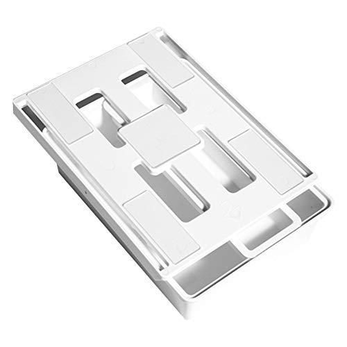 Ouken La Gaveta De Almacenamiento Caja Auto Adhesivo Drawe Mesa De Plástico Caja De Almacenamiento De Escritorio para El Hogar Utensilios De Cocina Consultorio: Blanca