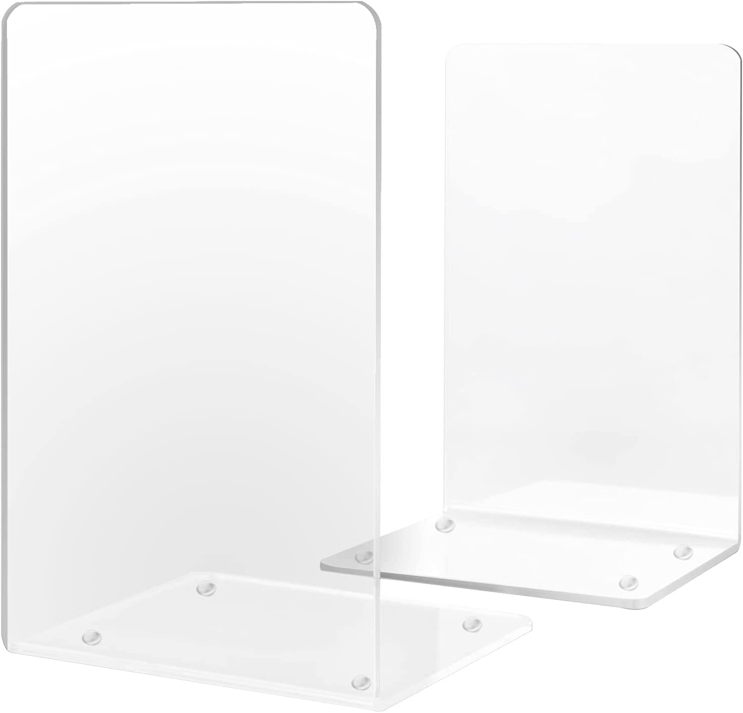 Acrylic Bookends Gibolin Clear Plastic for Ends Fort Worth Mall wi Book Shelves New sales