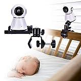 derclive supporto per monitor per bambini supporto per clip per videocamera stabile per bambini ruotabile a 360 gradi per mensola per culla