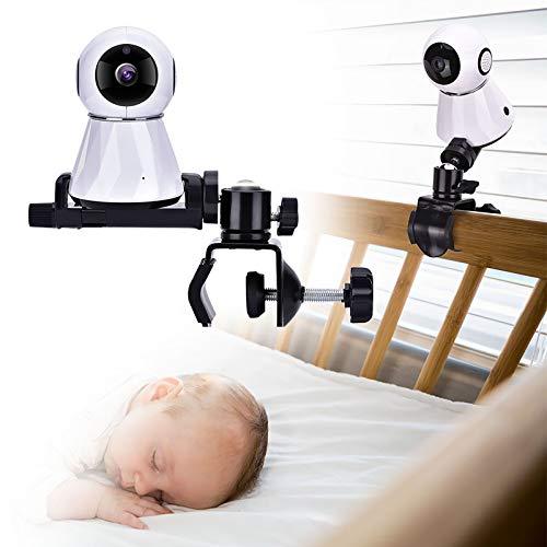 DERCLIVE Support de Moniteur de Bébé à 360 Degrés Support de Clip de Caméra Bébé Stable Rotatif pour Étagère de Lit Bébé