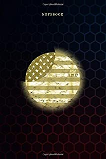 Simple Notebook Total Solar Eclipse August 21 2017 USA Flag: Meal, To Do List, Over 100 Pages, Budget, Weekly, Goals, 6x9 ...