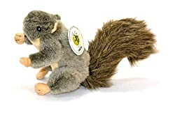 Gray Squirrel Plush Dog Toy by Sancho & Lola's Closet.