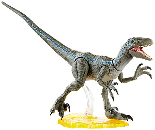 Jurassic World Fallen Kingdom Collection Ambre, Velociraptor Blue, figurine dinosaure articulé, jouet pour enfant, GJN93