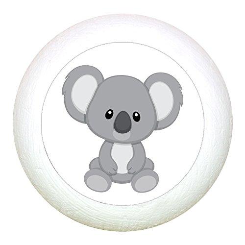 """Möbelknauf""""Koala"""" weiss Holz Buche Kinder Kinderzimmer 1 Stück wilde Tiere Zootiere Dschungeltiere Traum Kind"""