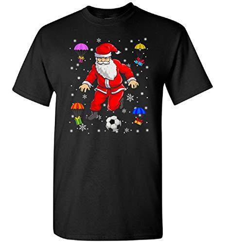 Santa Claus está jugando fútbol Navidad camiseta, sudadera, personalizado