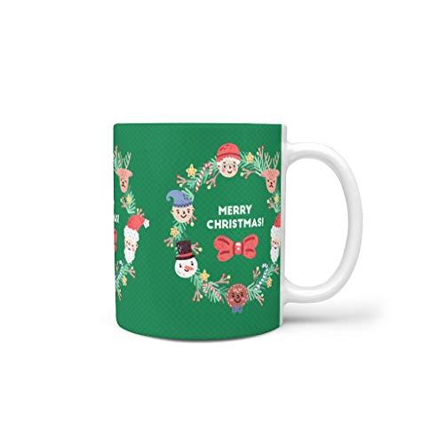 Generic Branded Tazas de café de cerámica de primera calidad importante divertida – Vaso de agua apto para el hogar para aniversario blanco 330 ml