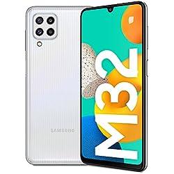 Samsung Galaxy M32 Batteria da 5.000 mAh Smartphone Android 11 Schermo Super AMOLED da 6.4 Pollici RAM 6GB Memoria Interna 128GB White 2021, Versione Italiana