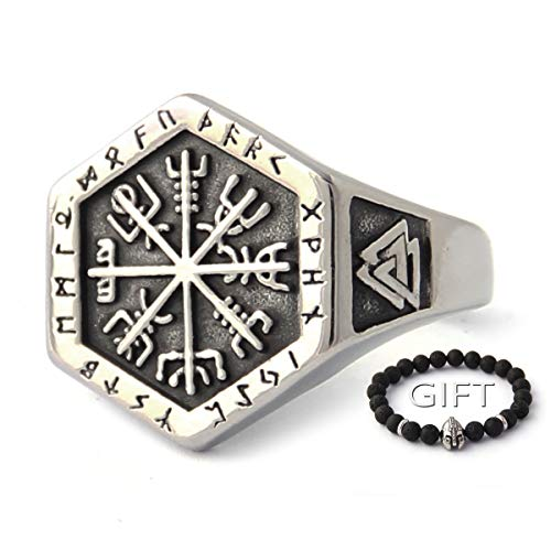 BaviPower Vegvisir The Viking Runic Compass Ring with Celtic Knot ♦ 316L Stainless Steel ♦ Norse Scandinavian Viking Jewelry (13)