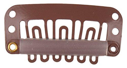 Solida toupet de kämmchen, caoutchouc, dimensions 2,30 x 1,1 cm, couleur marron, pack de 1 (1 x 1 pièce)