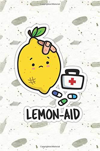 Lemon Aid Cute Fruit Pun   Punny Doodles Notebook Journal:...