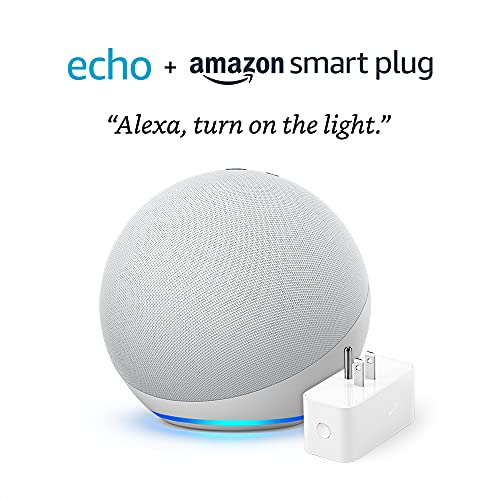 Echo (4th Gen) – Glacier White – bundle with Amazon...