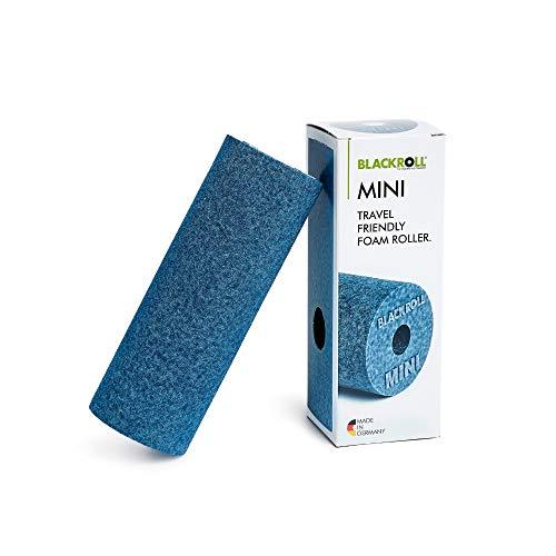 BLACKROLL® MINI Faszienrolle - das Original. Die kleine Selbstmassage-Rolle für die Faszien - Ideale Massagerolle für unterwegs, im Büro, im Fitnessstudio und auf Reisen - in blau