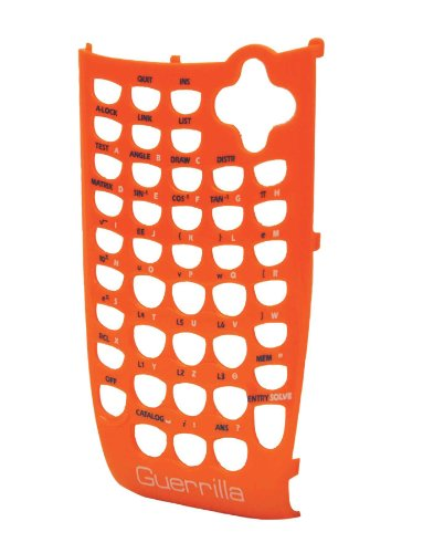 Guerrilla Orange Faceplate For Texas Instruments TI 84 Plus C Silver Edition Color Graphing Calculator Photo #2