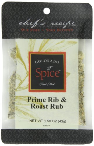 Colorado Spice Company, Beef, Poultry, Pork and Lamb Spice, Prime Rib & Roast Rub 1.5-Ounce Packet (Pack of 12)