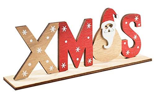 heekpek Decorazioni Natalizie Scritte Natale Decorazioni per la tavola di Babbo Natale Supporto in Legno di Natale Decorazione da Tavolo (Xmas)