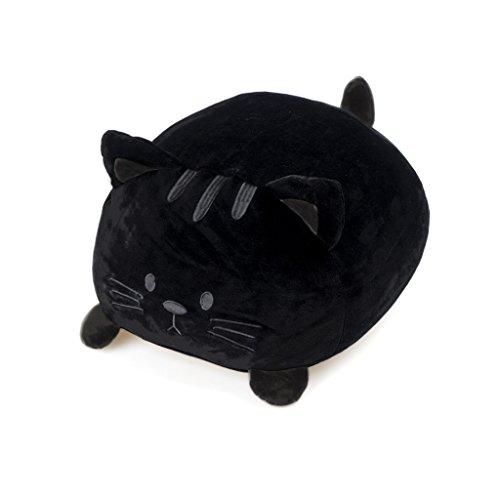 Balvi Cojín Kitty Color Negro Forma de Gato Suave