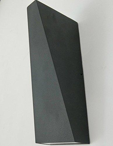 LED Mur Extérieur Lampe Étanche Lampe de Chevet Chambre Salon En Plein Air Allée Mur Lampe Balcon Escaliers Jardin Applique , black