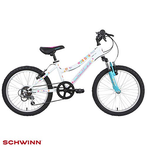 Schwinn Girl Shade Kids Bike - White, 20 inch