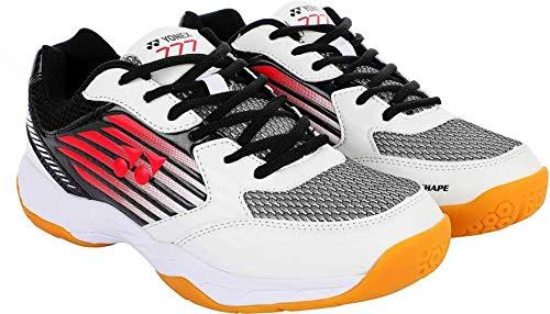 Yonex Yonex Shoes 777 Non Marking Badminton Shoes, 11 UK (White/Red)
