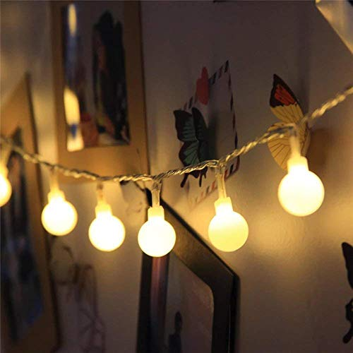 Nieuwe 1,5/2/3/4/5/10M / 20M 80/160 LED Holiday Fairy Garland Ball String Lights Globe Domestic Decoratie voor bruiloft batterij kabel Lights