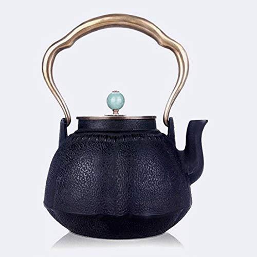 Tea Pot, Japanese Small Tea Kettle, Cast Iron Vintage Heat Resistant Tea Maker for Loose Leaf Tea, for Party Office Home, 1000ml
