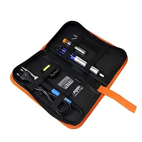 Wacent Herramientas de Soldadura, Kit de Soldador eléctrico 11 Piezas Kit de Soldador de Temperatura Ajustable Juego de Herramientas de Soldadura(110V U.S. Regulation)