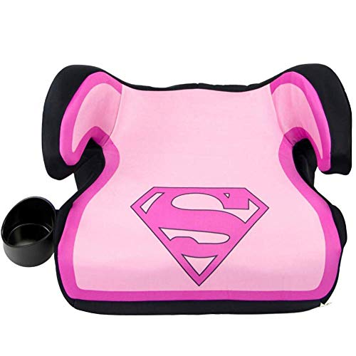 KidsEmbrace Backless Booster Car Seat, DC Comics Pink Supergirl