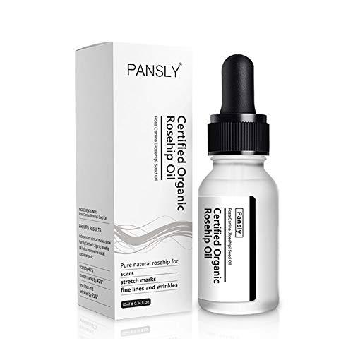 PANSLY 10ml Aceite de rosa mosqueta orgánico Stretch Mark Eliminación de cicatrices Aceite esencial reafirmante hidratante