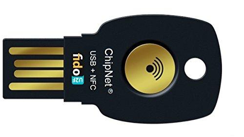 ChipNet FIDO2 + FIDO U2F - Llave de Seguridad para Verificación en 2 Pasos - USB + NFC y JavaCard. Empresa Española .Soporte Posventa con Asistencia Personal.