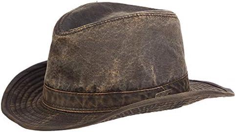 Dorfman Pacific Mens Indiana Jones Weathered Cotton Hat