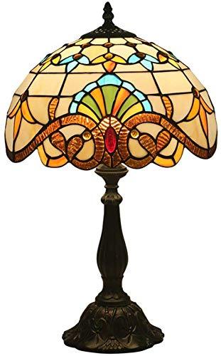 HDDD 30,5 cm (12 inch) Europese schaduw retro creatieve verlichting tafellamp in Tiffany-stijl barok glazen lamp nachtkastje woonkamer bar verlichting