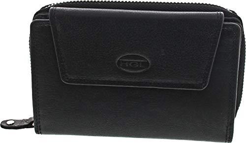 HGL Lederwaren Damenbörse mit RFID (Geldbörse schwarz / 1)