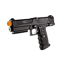 THE ORANGE BUTTON ON THE BARREL IS FOR ILLUSTRATIVE PURPOSES ONLY – NOT INCLUDED Lightweight, compact paintball gun with easy-to-maintain design, 2 Tru-Feed straight stack magazines with low-tension spring systems External velocity adjuster; 8 bps fe...