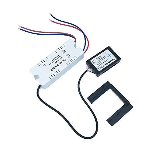 220V On/OFF Espejo Interruptor táctil aislada para la luz de lámpara ahorro de energía LED