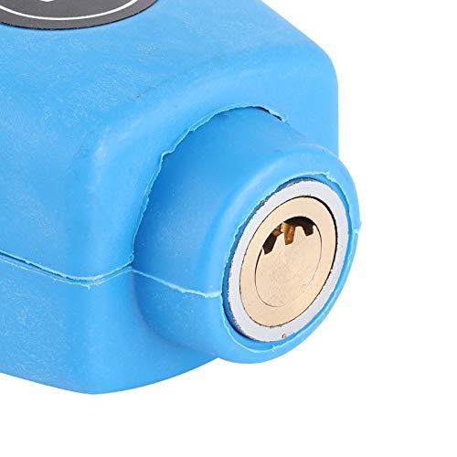 Fishawk Bloqueo de Palanca de Freno, ABS + Bloqueo de Manillar de Alambre de Acero Inoxidable, práctico Universal para Manillar de Motocicleta(Blue)