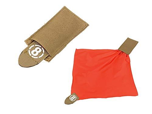 KOSxBO® Airsoft Deathrag - Taktische Molle Weste - Softair Hittuch - Warnweste - Hit Tuch - Tasche braun FDE - orange Softair Zubehör Ausrüstung Airsoft