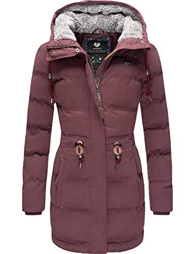 Ragwear Damen Jacke Wintermantel Winterparka Ashani Puffy Weinrot20 Gr. XL