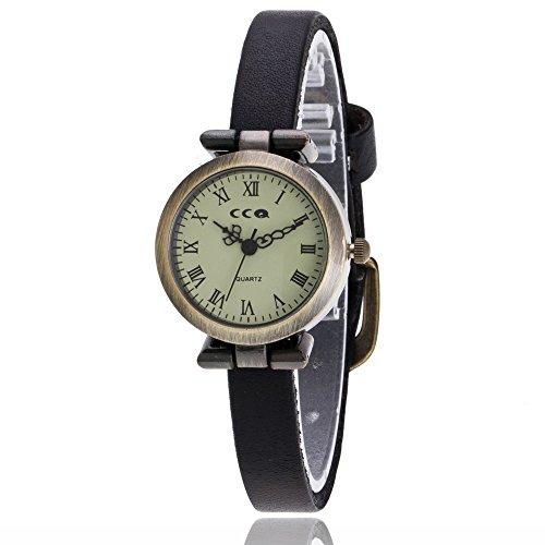 Armbanduhr Damen Ronamick Vansvar Damen Casual Quarz Lederband Newv Armbanduhr Analog Armbanduhr Armband Armbanduhr Uhr Uhren(F)