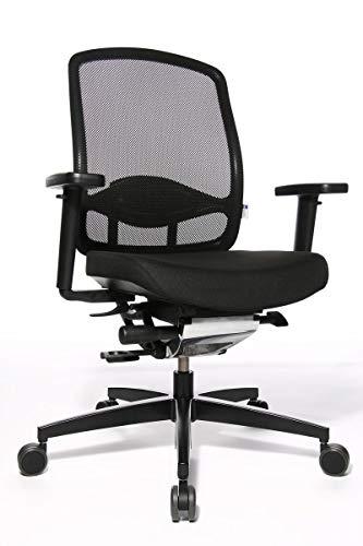 Bürostuhl Wagner Alumedic 5 mit Dondola-Sitzgelenk inkl. Kopfstütze & Armlehnen in Schwarz