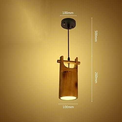 HNBY Lampe en bambou rétro en bois massif, chandelier de restaurant Lampe de plafond Bar Chandelier Escalier éclairage décoratif Lampes décoratives Lampes de salon Balcon Lampe Lampes d'ingénierie Lan