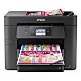 Epson Workforce Pro WF Series All-in-One Wireless Color Inkjet Printer - 4-in-1 Print Scan Copy Fax - 20 ppm, 500-Sheet, Voice-Activated, Auto 2-Sided Printing