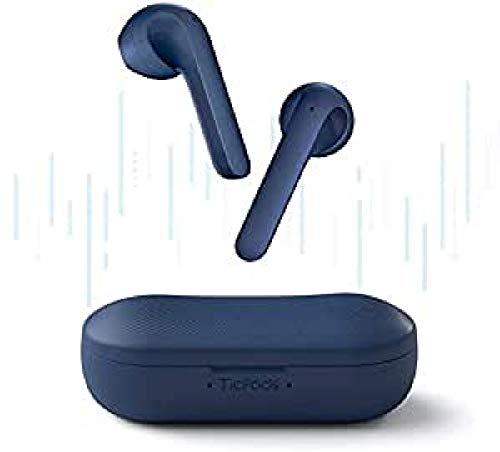 Fones de ouvido sem fio TicPods 2 PRO, detecção intra-auricular, qualidade de som superior, controle de toque / voz / gestos, assistente de voz, classificação à prova d'água IPX4, azul