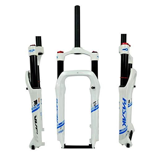 NS Ajustable Horquilla Delantera para Motos Nieve de 20 Pulgadas,Horquilla de Aire Resorte Aceite Amortiguador de ATV Aleación Aluminio Neumático Ancho 4.0 Bicicleta de Montaña 135MM Deporte Exterior